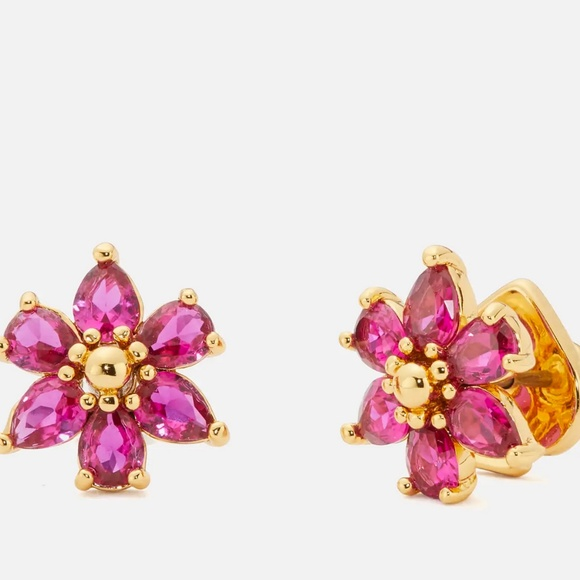 Kate Spade earrings pink crystal flower earrings